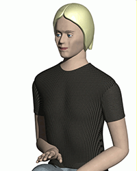 picture of 50th percentile human woman for 3d renderings