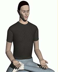 picture of 5th percentile male human model for solidworks